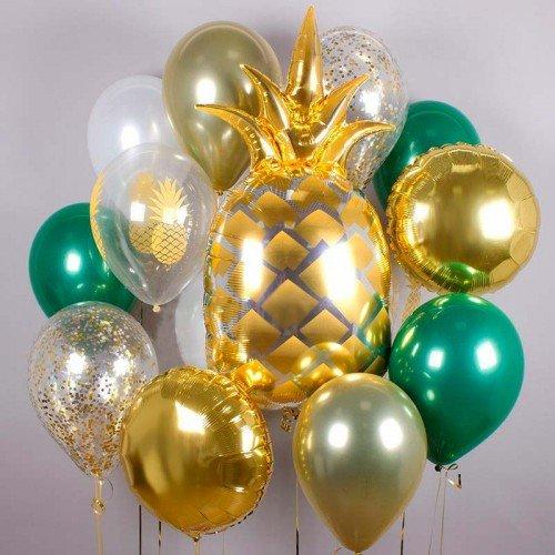 Комплект воздушных шаров с ананасами