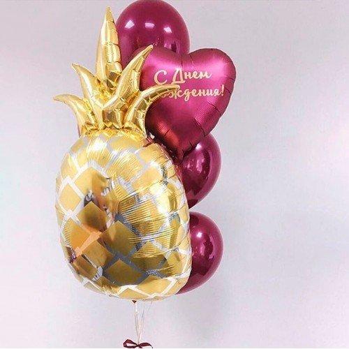 Композиция воздушны шаров фруктовая ананас