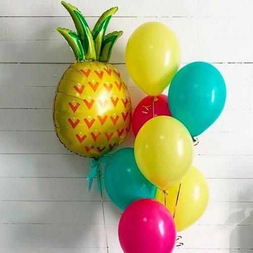 Набор шариков воздушных с ананасом