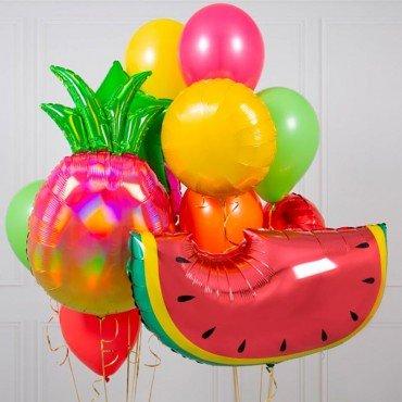 Набор шариков воздушных арбуз и ананас