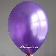 Шарик металлик фиолетового цвета c гелием