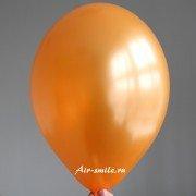 Шарик металлик оранжевого цвета c гелием