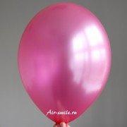 Шарик металлик ярко розового цвета c гелием
