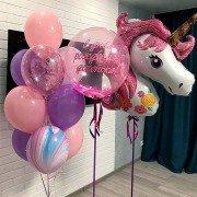 """Комплект шаров на день рождения """"Любимый единорог"""""""