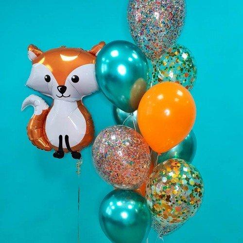 Набор воздушных шаров с лисичкой