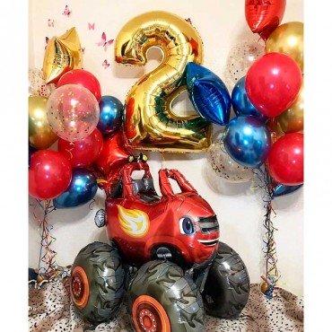 Набор воздушных шаров на день рождения мальчика со Вспышем