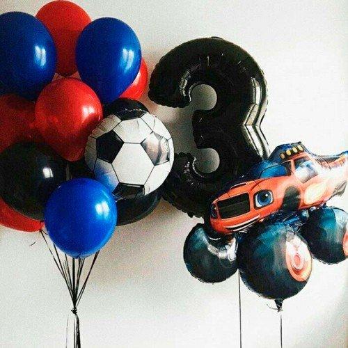 Комплект воздушных шариков Вспыш и футбол