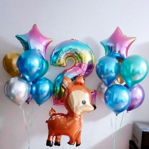 Шарики воздушные на день рождения с Олененком