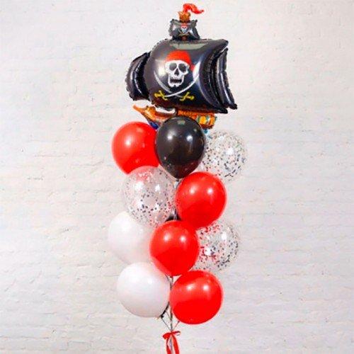 Набор шариков воздушных в подарок с кораблем пиратским