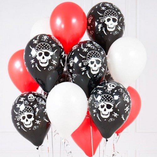 Набор шаров для мальчика пираты, черепа и сабли