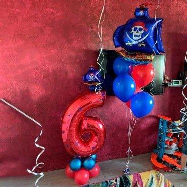 Шарики воздушные для мальчика на день рождения пираты