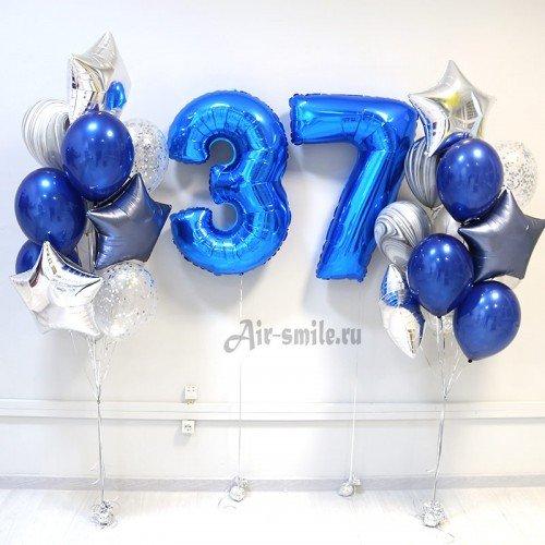 Воздушные шары для мужчины на 37 лет