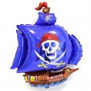 Шар фигура синяя шхуна Пирата