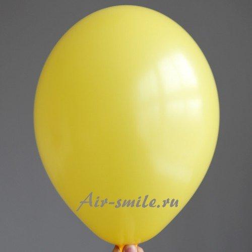 Шарик гелиевый матовый тёмно жёлтый