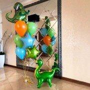 """Комплект шаров """"Маленький и большой динозавр"""""""