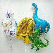 """Комплект шаров на 4 года """"Динозавры"""""""