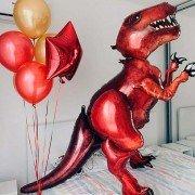 """Композиция шаров """"Красный Тираннозавр"""""""