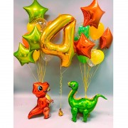 """Набор шаров на 4 года """"Динозаврики"""""""