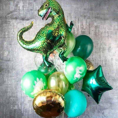 Набор шариков воздушных на день рождения с Тираннозавром