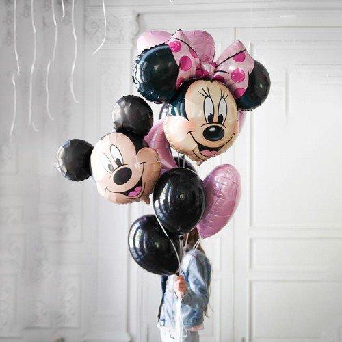 Набор шариков воздушных с микки и Минни Маус
