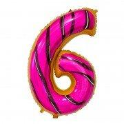 "Шар-цифра ""6"" пончик 86 см"