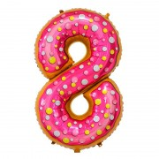 "Шар-цифра ""8"" пончик 86 см"