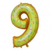 "Шар-цифра ""9"" пончик 86 см"