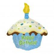 "Шар в форме кекса ""Happy Birthday"" 51 см"