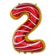 "Шар-цифра ""2"" пончик 86 см"