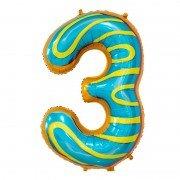 "Шар-цифра ""3"" пончик 86 см"