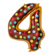 "Шар-цифра ""4"" пончик 86 см"