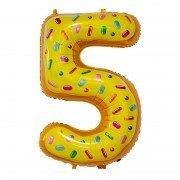 "Шар-цифра ""5"" пончик 86 см"