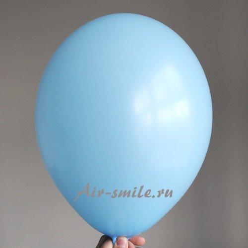 Воздушный шарик голубого цвета с газом гелий