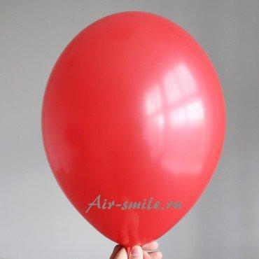 Гелиевый шарик красного цвета не прозрачный с гелием