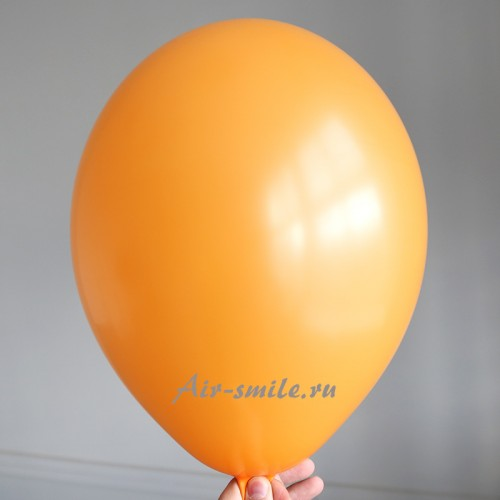 Воздушный шарик оранжевого цвета с гелием
