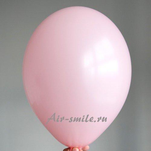 Воздушный шарик светло розового цвета с гелием