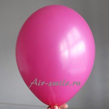 Воздушный шарик малинового цвета или ярко розовый с гелием