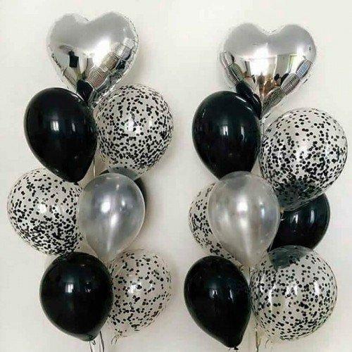 Наборвоздушных шариков с сердцами