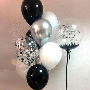 комплект воздушных шариков в подарок мужчине