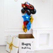 """Коробка с шарами на день рождение """"Вспыш"""""""