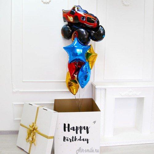 Коробка-сюрприз с воздушными шарами Вспыш