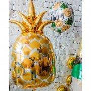 Воздушный шар фигура Ананас золотой