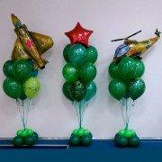 """Композиция из воздушных шаров """"Армейская"""""""