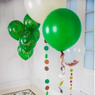 Композиция из воздушных шариков для военного на праздник