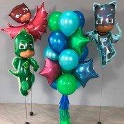 """Композиция из воздушных шаров  """"Команда героев в масках"""""""