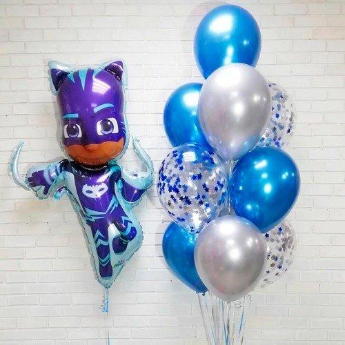 Набор воздушных шариков Герои в масках и Кэтбой