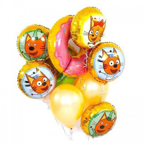 Комплект шаров на праздник с героями Три кота