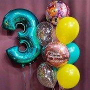 """Праздничный набор шаров на день рождения """"Три кота"""""""