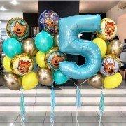 """Юбилейный комплект воздушных шаров """"Три кота"""""""