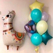 """Композиция из воздушных шаров """"Мечтающая Лама"""""""